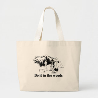 DO IT IN THE WOODS 3 LARGE TOTE BAG