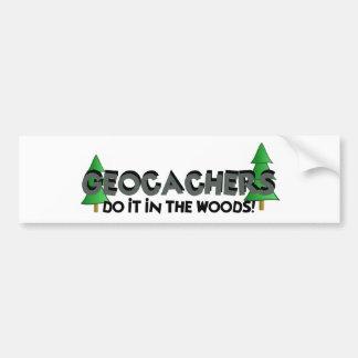 Do it in the Woods! Car Bumper Sticker