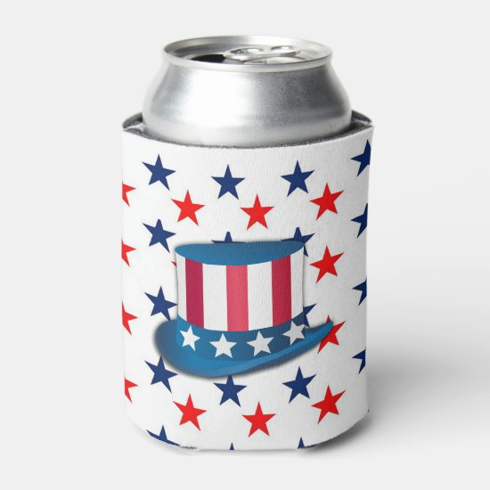 Do It Like Sam July 4th Beverage Can Cooler