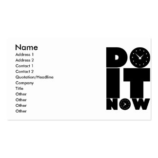 DO_IT_NOW Double-Sided STANDARD BUSINESS CARDS (Pack OF 100)