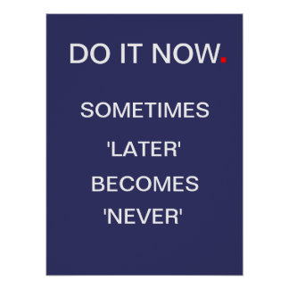 Do It Now - Motivational Poster