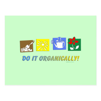 Do It Organically Postcard