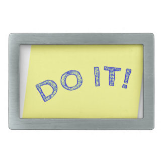 Do it! rectangular belt buckle