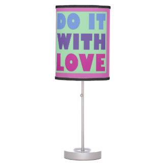 Do It With Love Pop Art Decor Table Lamp