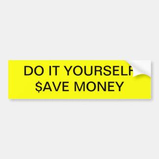 "DO IT YOURSELF ~ 11"" x 3"" Bumper Sticker"