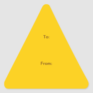 """DO IT YOURSELF ~ 1.5"""" Triangle Stickers"""