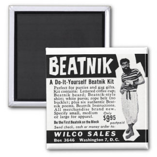 Do It Yourself Beatnik Kit 2 Inch Square Magnet