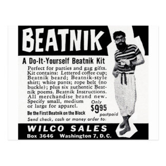 Do It Yourself Beatnik Kit Postcards