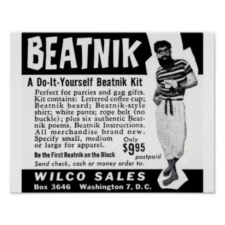 Do It Yourself Beatnik Kit Poster