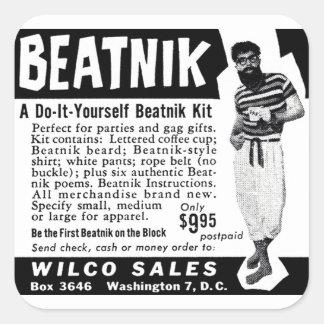 Do It Yourself Beatnik Kit Square Sticker