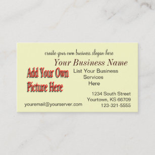 Do It Yourself Biz Card Customize As Needed Business