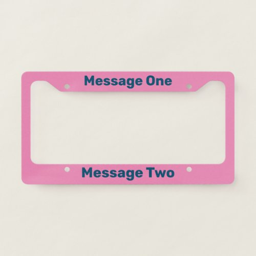 Do It Yourself Blue and Pink License Plate Frame