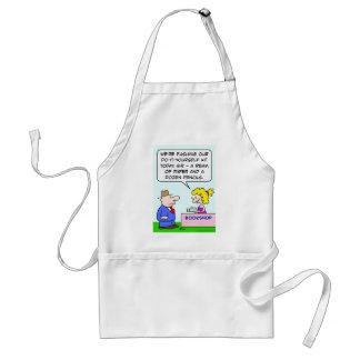 do it yourself bookshop paper pencils adult apron