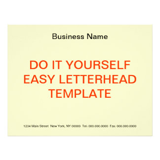 DO IT YOURSELF ~ Business Letterhead 8x11