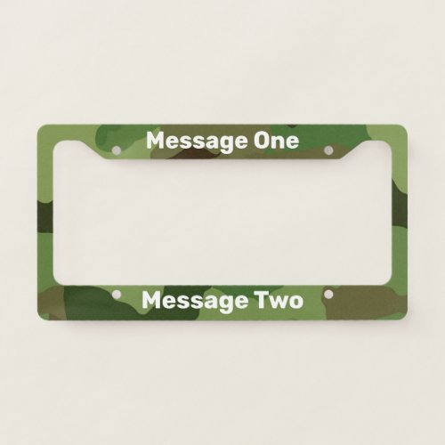 Do It Yourself Camo License Plate Frame