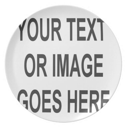 Do it yourself custom blank product template! plate