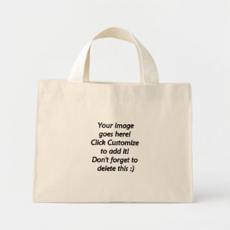 Do it yourself custom product blank template mini tote bag