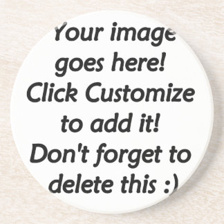 Do it yourself custom product blank template sandstone coaster