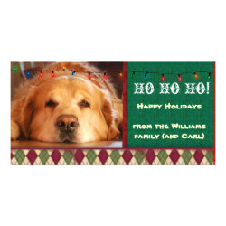 Personalized pet photo cards perfect postage are accompanied by a custom message and photo to make for cute charming christmas photo cards in red and green solutioingenieria Choice Image