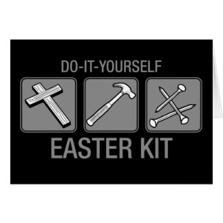 do it yourself easter kit greeting card