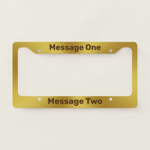 Do It Yourself Faux Gold License Plate Frame