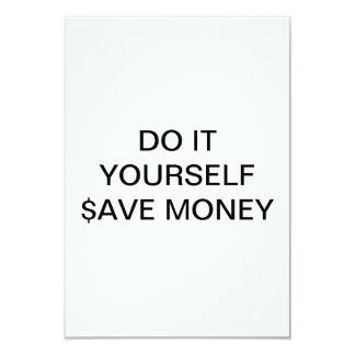 DO IT YOURSELF ~ Invitation / RSVP 3.5 x5