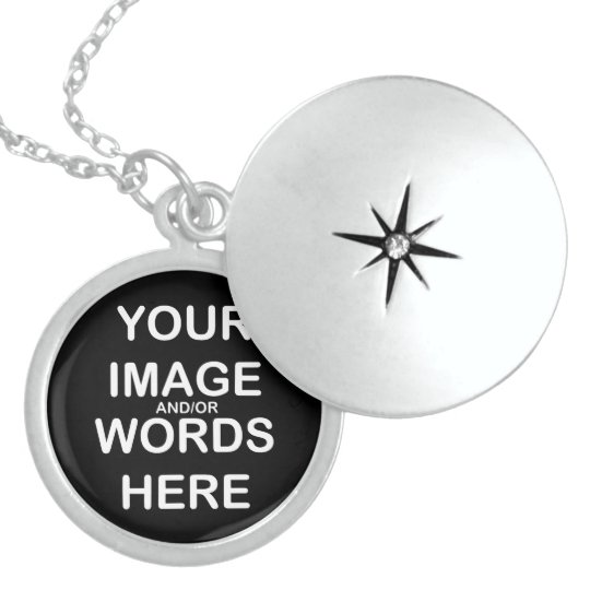 """DO IT YOURSELF ~Med 1"""" Sterling Silver Round Locke Sterling Silver Necklace"""