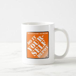 Do It Yourself Classic White Coffee Mug