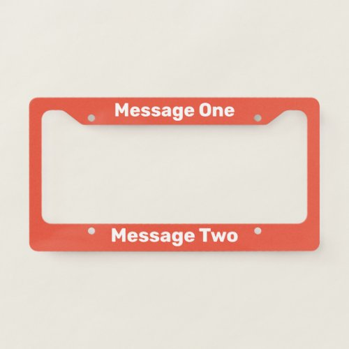 Do It Yourself Orange_Red License Plate Frame