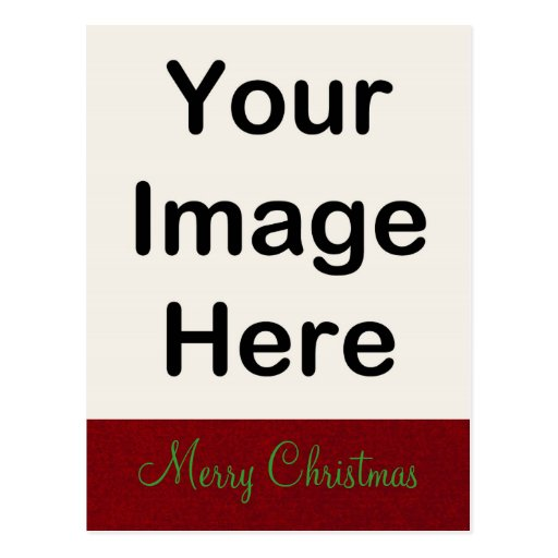 DO IT YOURSELF ~ Postcard Christmas Red Designer