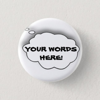 DO IT YOURSELF SPEECH BUBBLE - DIY Button
