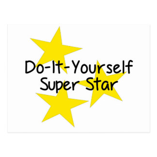 Do-It-Yourself Super Star Postcard