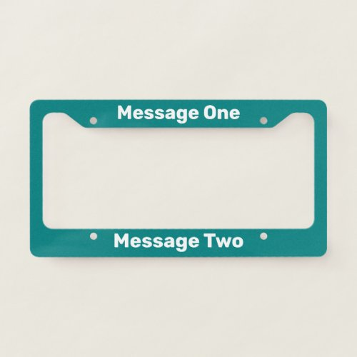 Do It Yourself Teal License Plate Frame