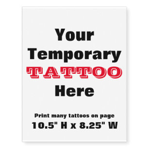 Moms Birthday Temporary Tattoos | Zazzle