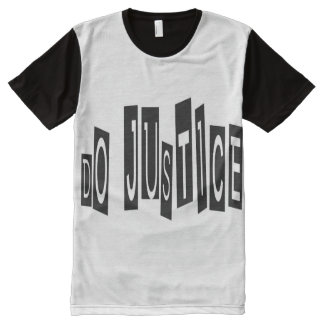 Do Justice All-Over Printed Panel T-Shirt, L All-Over-Print T-Shirt