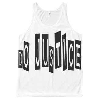 Do Justice All-Over Printed Unisex Tank, L All-Over-Print Tank Top