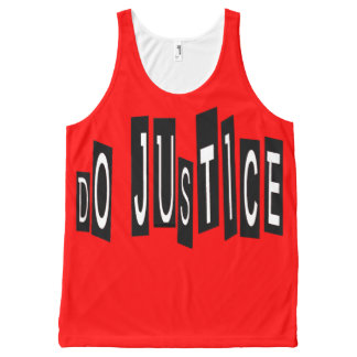 Do Justice v2 All-Over Printed Unisex Tank, L All-Over-Print Tank Top