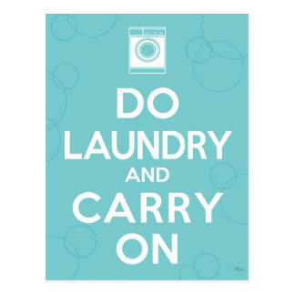 Do Laundry and Carry On Postcard