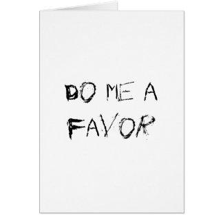 do me a favor card