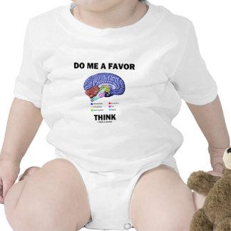 Do Me A Favor Think (Brain Anatomy Humor) T-shirt