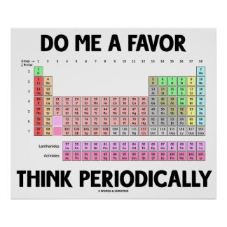 Do Me A Favor Think Periodically (Periodic Table) Poster
