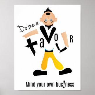 Do me a favour designer poster