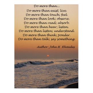 Do More Than... Postcard