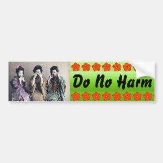 Do No Harm bumper sticker Car Bumper Sticker