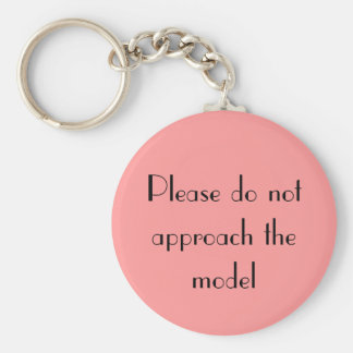 Do not approach basic round button keychain