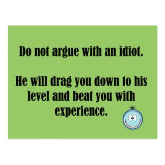do not argue postcard