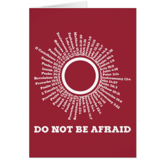 Do Not Be Afraid Scripture Promises Greeting Card