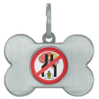 Do Not Bee Narrow Brained Pet Tag