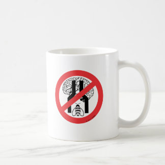 Do Not Bee Narrow Brained RD BLK WH. Classic White Coffee Mug