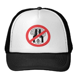 Do Not Bee Narrow Brained RD BLK WH. Trucker Hat